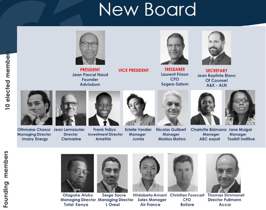 Board Members French Chamber Kenya